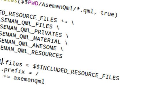 چگونه بدون ایجاد فایل qrc با کمک qmake یک ریسورس بسازیم