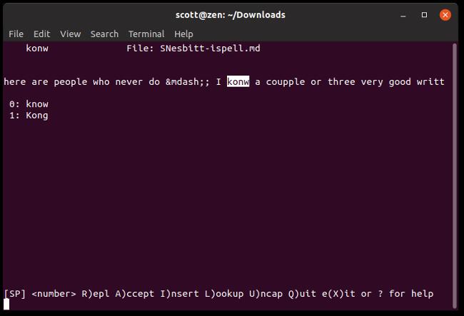 چک کردن املای نوشتهها در کامند لاین لینوکس با ispell