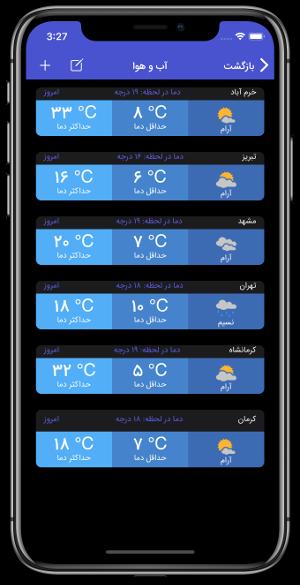 توسعه سامانه سفارشی هواشناسی